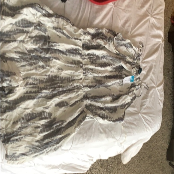Rue21 Other - Gray and white plus size romper
